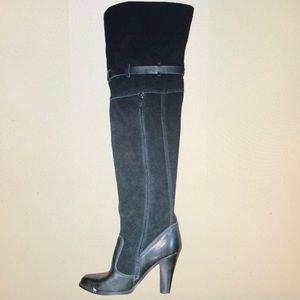 NIB Victoria's Secret Black Over the Knee Boots